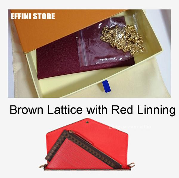treillis rouge brun linning