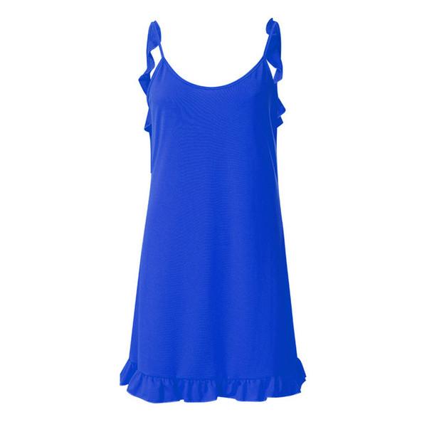 Summer Fashion Womens Dress Holiday Lace Up Ladies Summer Pomisi Backless Beach Party Dress vestidos de festa kleider damen