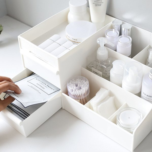 Dressing Table Skin Care Rack House Container Mobile Phone Sundries Large Capacity Cosmetic Storage Box Drawer Makeup Organizer SY0013