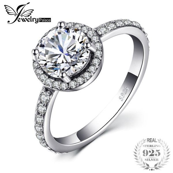 Cheap Rings Jewelrypalace 925 Sterling Silver Classic Crystal Cubic Zirconia Ring Gifts For Women Anniversary Gifts Fashion Jewelry