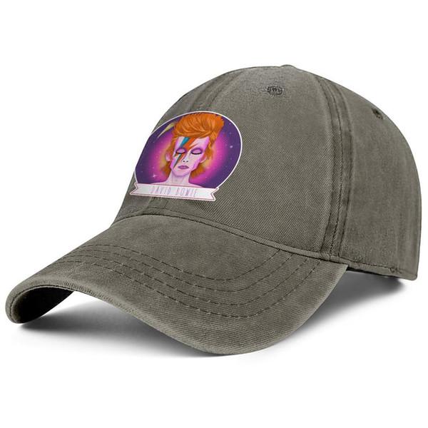 David-Bowie-Lightning-Poster коричневые мужские и женские бейсбольные джинсовые кепки классно подогнанные на заказ крутые винтажные персонализированные лучшие оригинальные джинсовые шляпы