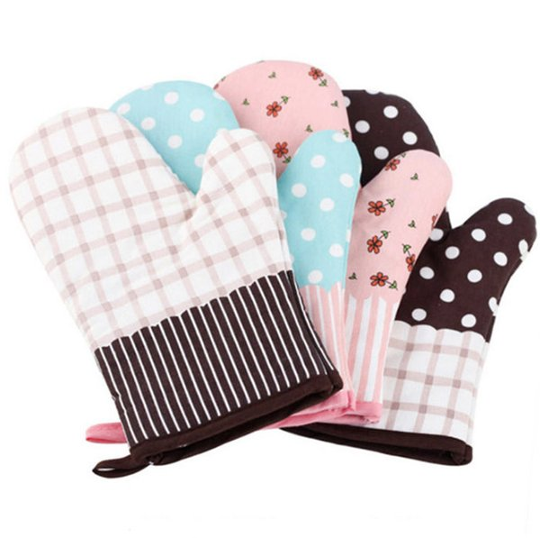 Hot-selling Kitchen Baking heat-resistant heat-insulating anti-scalding slippery thickening and lengthening oven gloves for microwave oven