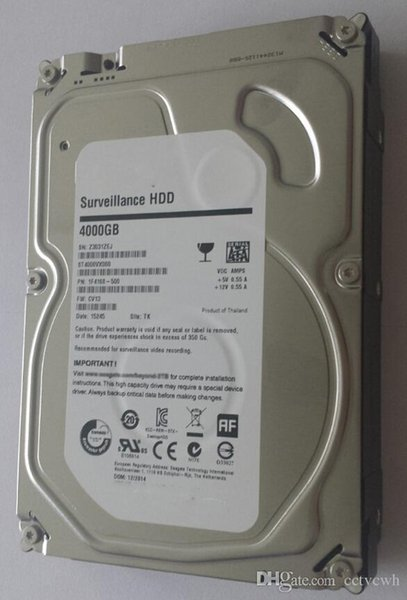 SATA HDD Hard Drive Memory 4000GB Hard Disk 4TB Seagate 64MB 5400rpm for PC and CCTV Security Video Hard Disk Recorder