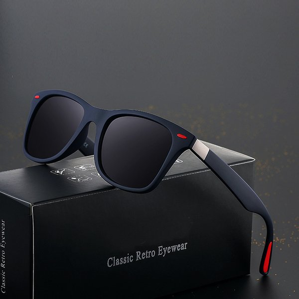 2019 New Fashion Square Ladies Polarizing Sunglasses Uv400 Men's Glasses Classic Retro Brand Design Driving Sunglasses