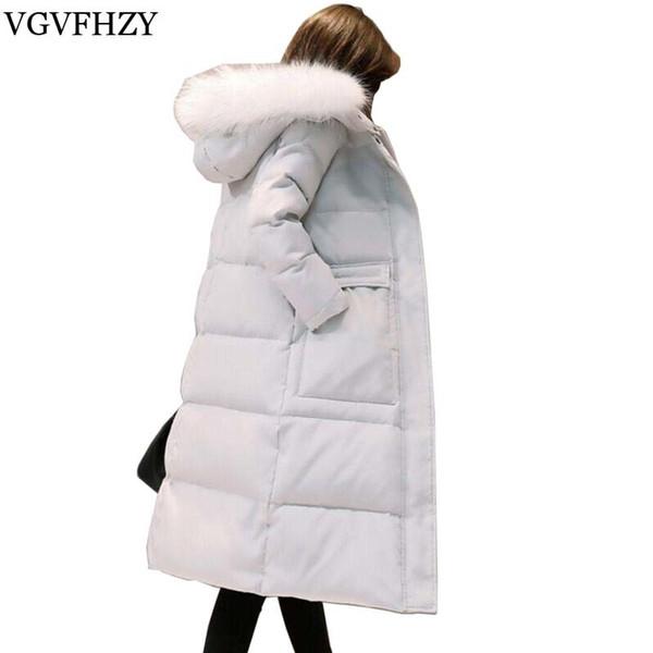 845a3ecf87e51 Mujeres cálidas pato blanco abajo chaqueta acolchada mujeres largas parkas  de nieve abrigo de invierno cuello