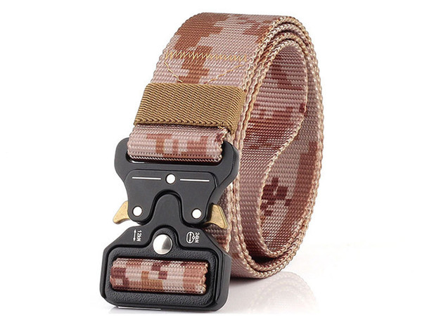 10 Color 3.8cm Heavy Duty Tactical Gear Out Belt Nylon Metal Buckle Swat Molle Padded Patrol Waist Belt Tactical Hunting Accessories