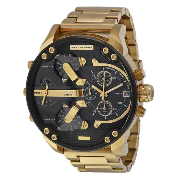 Um novo relógio de moda com cinto de aço e cinto de couro masculino de alta qualidade