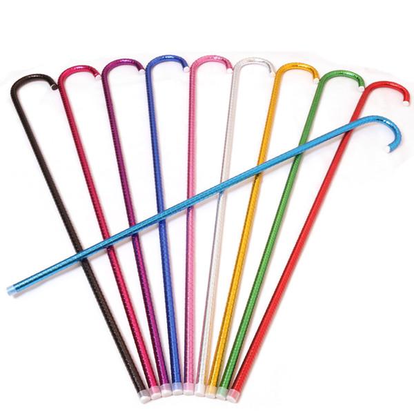 Popular colorido danza del vientre caña 93 cm adultos bastón PVC tubo de plástico muleta para las mujeres mma1649