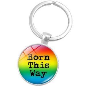 LGBT LESBIAN GAY ORGULLO ARCO IRIS ESTE CAMINO LLAVERO LLAVERO CLAVE ACCESORIO CLAVE CADENA LLAVERO CABOCHÓN PRECIOSA PIEDRA ACCESORIOS PARA LA BOLSA DEL COCHE