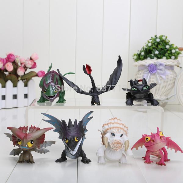 How To Train Your Dragon 2 Dragon Toys Night Fury Toothless Pvc Action Figure Toys Dolls 7pcs /Set