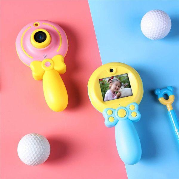 Toptan Ucuz Çift Kameralar Sihirli Değnek Çocuklar Oyuncak Kamera 2 Inç Ekran Çocuklar Için 720 P Çocuk Dijital Video Kamera
