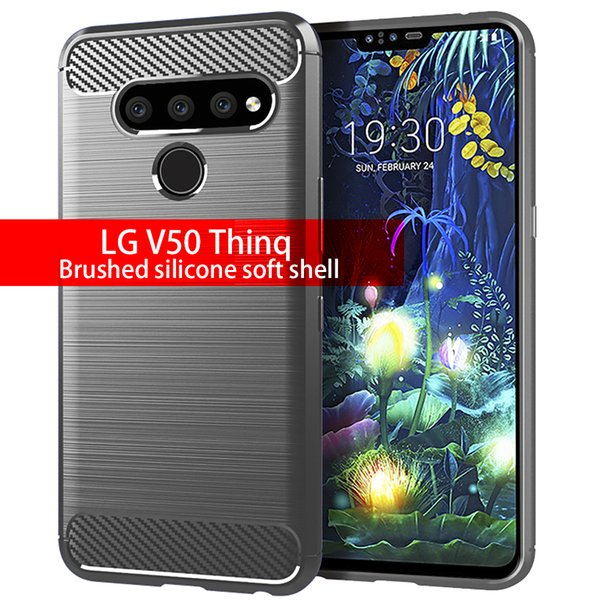 22dd0b99294 Envío gratis aplicable a LG V50 Thinq funda suave de silicona cepillada LG  K12 + carcasa