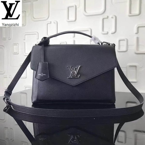 top popular Yangzizhi New M54849 Black Soft Calf Leather My Lockme Handbag Handbags Bags Top Handles Shoulder Bags Totes Evening Cross Body Bag 2020