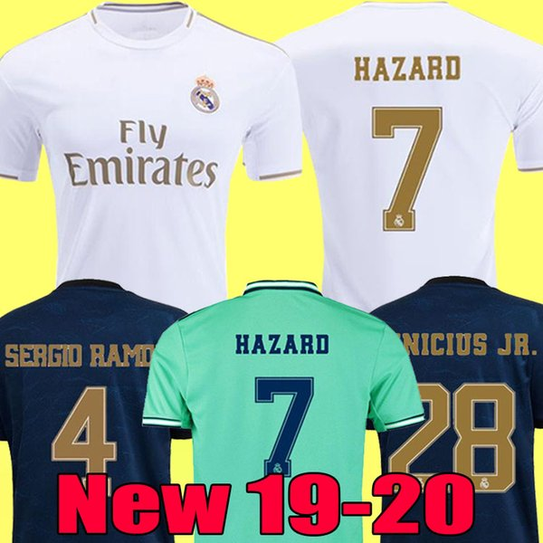best selling soccer jerseys Real Madrid 19 20 HAZARD JOVIC MILITAO camiseta de fútbol 2019 2020 VINICIUS ASENSIO football shirt kids camisa de futebol