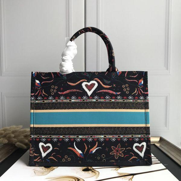 Book Tote handbag Printed Canvas Shopping Bag Large Capacity Weave Travel Beach Handbag big 42x30x15cm and small 36x20x15cm