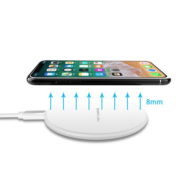 Wireless Charger, Qi Certified Super Slim Cell Phone Charging Pad Compatible Iphone X/8/8Plus, Samsung, All QI-enabled Devices