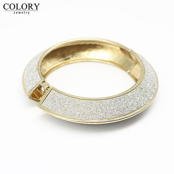 Bijoux populaires femmes champagne or argent givré bracelet personnalité bijoux bracelet en or