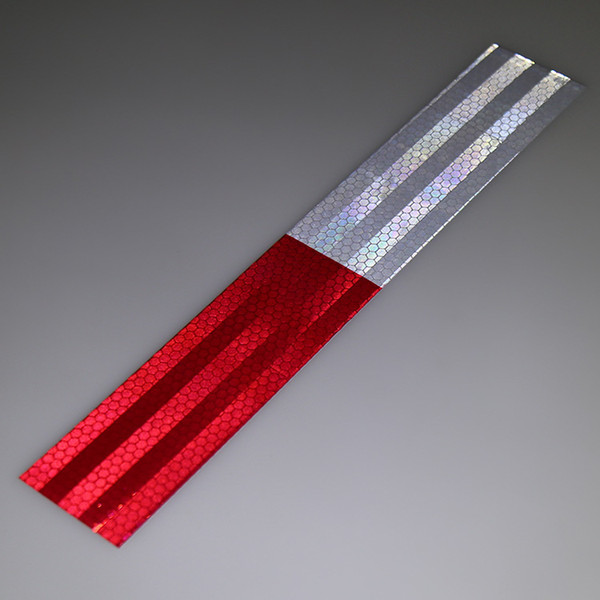 best selling Factory 5CM * 30CM Car Body Reflective Stickers Truck Reflective Strips Red White Annual Review Reflective Logo Warning Tape