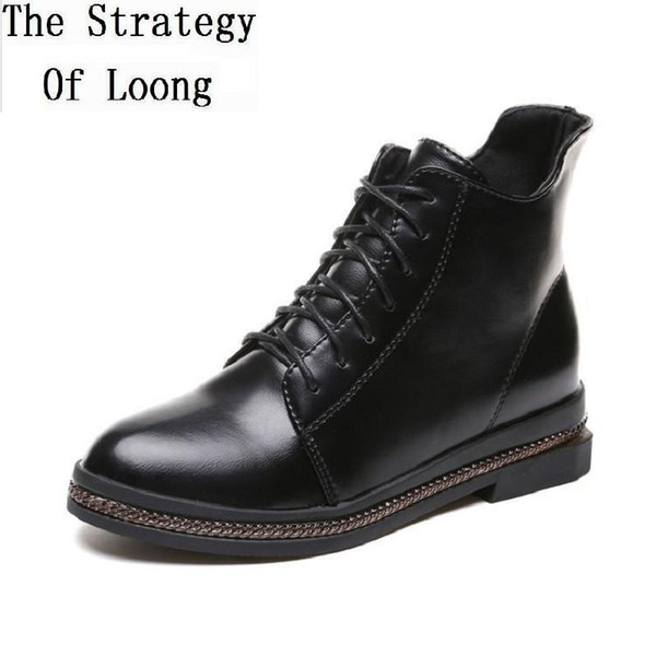women's boots ankle rubber shoes spring half boots for women New Autumn Spring British Style Retro Women Short Thick Heels