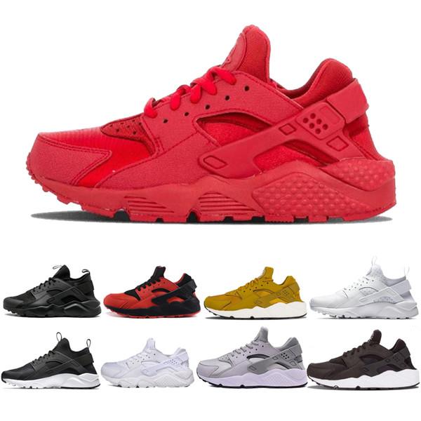 Huarache 4.0 1.0 Chaussures de course Hommes Femmes triple noir blanc rouge Rose formateurs Huraches Respirez Sports Athlétiques Sneakers Taille 36-45 # 0c51a #