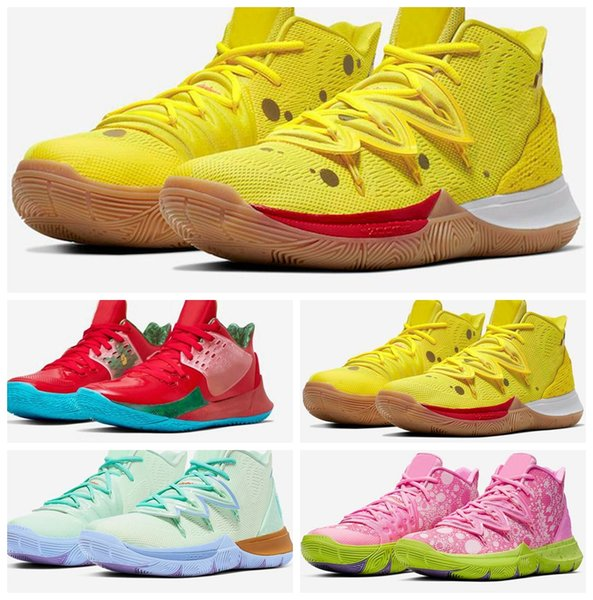New Kyrie Sponge Bob Men 2019 Basketball Shoes 5s Trainers Irving 5 Squidward Mountain Oreo Friends Patrick Sports Sneakers des chaussures