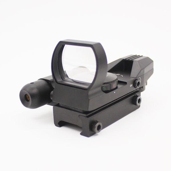 Kollimator Anblick für Jagd Zielfernrohr Holographische Reflex 4 Absehen Roter Punkt Anblick Taktisches Zielfernrohr + Roter Laser