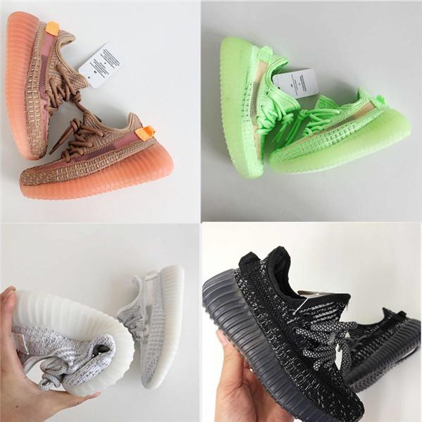 Adidas Yeezy 350V2 STATIC Infant 35 v2 Kids Runs Hyper space TrueForm Clay Toddlers Running Shoes Sneakers Plyknit Bambini boy girl Allenatori