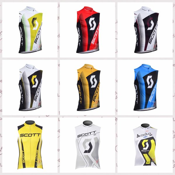 SCOTT team Cycling Sleeveless jersey Vest Breathable Quick Dry Polyester Outdoor sportswear Quality summer mens ropa ciclismo F52805