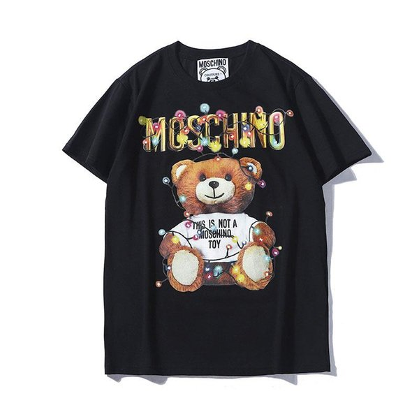 19ss Couture Milano Mos O Letter Print Men Tee Teddy Bear Cotton T SHIRT Men Women Mosos Tops Streetwear T-shirts YY8692