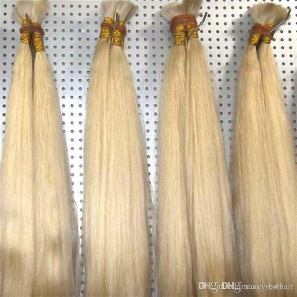 Good Deal Color 613 Blonde Human Hair Extension in Bulk Cheap Straight Wave Brazilian Hair Bulk For Braids No Attachment, Free Shipping