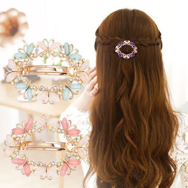 1PC New Crystal Rhinestone Hair Clips Hairpins Women Girls Butterfly Flower Jewelry Barrette Hairclip Hairgrip Hair Accessories