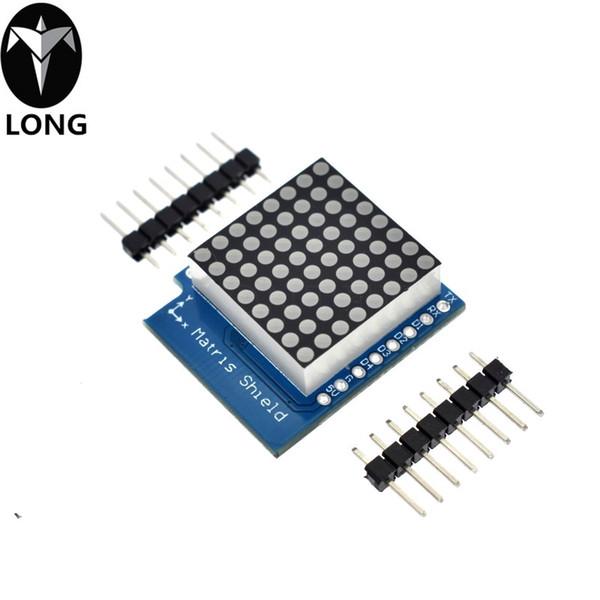 Matrice LED Bouclier V1.0.0 Pour WEMOS D1 Mini Controller Signal de sortie numérique Module 8 X 8 Dot Control Board