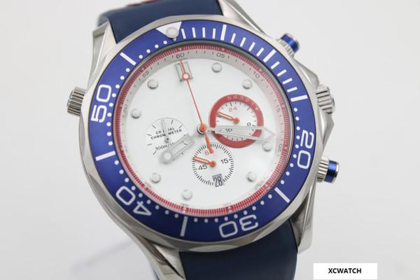 AAA new shelves ocean sea commander James Bond classic classic fashion watch, blue rubber strap, original buckle, free shipping