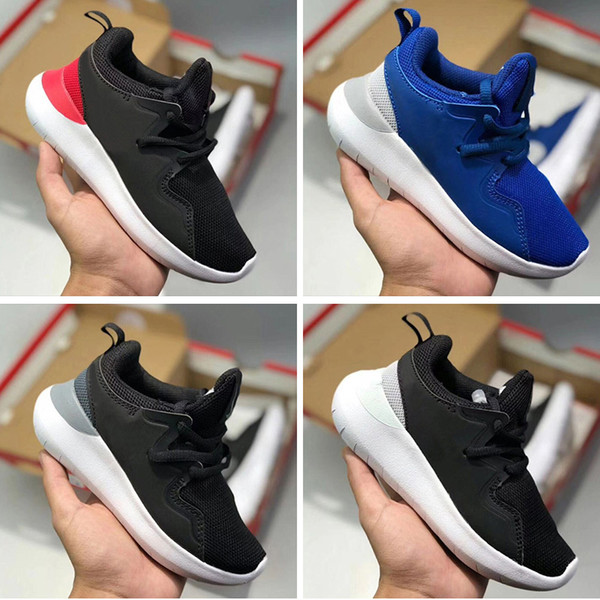 childrens Shoes Original London Olympic Designated Running Shoes Triple Black White Mesh Breathable Children Sport Sneakers