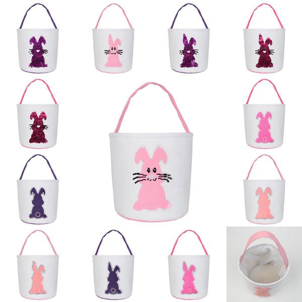 Sequin Easter Basket Rabbit Storage Handbag Basket Cute Easter Day