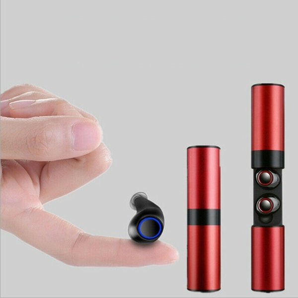 Wireless waterproof Bluetooth 4.2 headset S2 mini TWS magnetic headset with microphone charging box earplugs