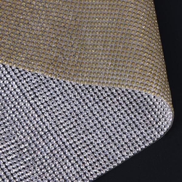 heap Rhinestones SS6 Rhinestone Trim Cut Crystal Beaded Applique Hotfix Iron On Strass Mesh Banding In Roll DIY Clothing Decor Sticker 23...