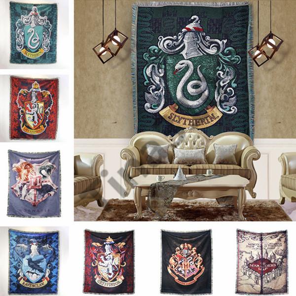 Harry Potter Goblen 14 Stilleri Rozet Püsküller Halı Gryffindor Slytherin Hufflerpuff yatak odası halı Parti Şekil Dekorasyon 10 adet T1I1561
