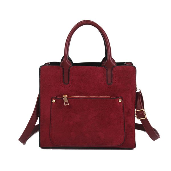 Borsa portatile retrò di grande capacità 2019 autunno e inverno nuova borsa a tracolla semplice borsa donna Messenger