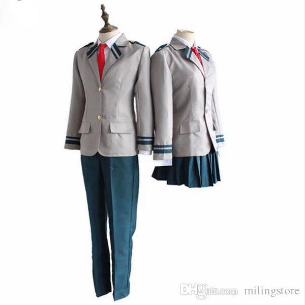 My Hero Cosplay Boku No Ochaco Hero Academia Uraraka Midoriya Izuku Anime Cosplay Costume Momo Yaoyorozu School Uniform Easy Anime Cosplay Cosplay For
