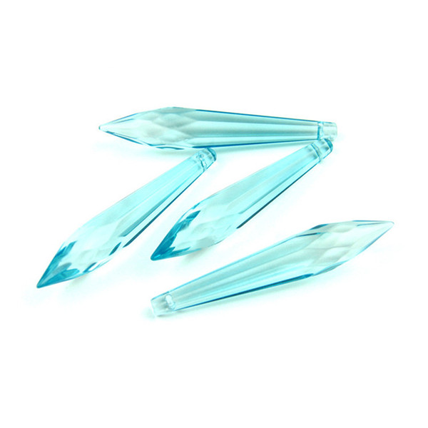 10PCS Light Aquamarine 76mm Crystal Prism Pendant With Polyhedral For The Family Pendant Lamp Is Beautifully Decorated Sell Like Hot Cakes
