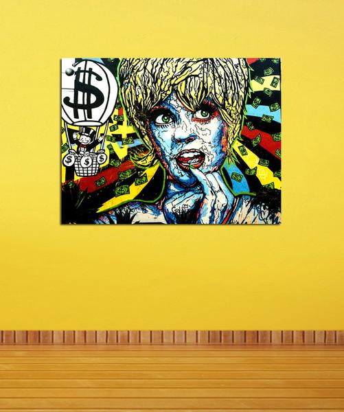 Алек Монополия -37,1 шт. Отпечатки на холсте Wall Art Картина маслом домашнего декора (без рамы / рама) 12X16.