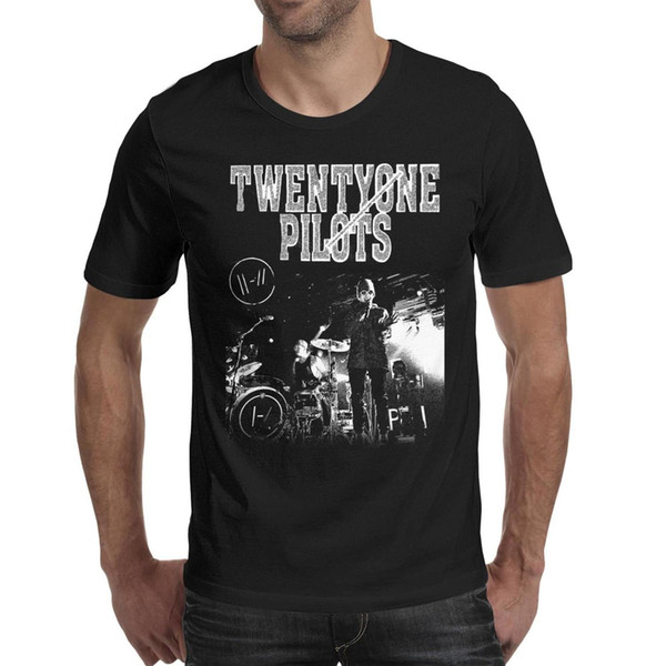 21 Twenty One Pilots Men T Shirt black Shirts Custom T Shirts Designer Tee Shirts Champion Wholesale Shirt Black