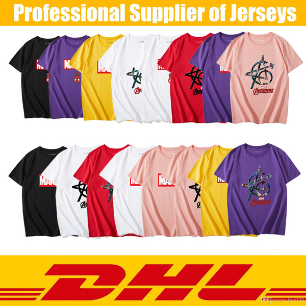 Marvel T-shirts T-shirts Spiderman Deadpool Super Heroes D'été T-shirts En Coton Top Vêtements Spiderman Cosplay T-shirts
