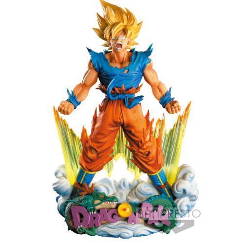 Wholesale 24cm Dragon Ball Z Super Saiyan Son Goku Anime Action Figure PVC New Collection figures toys Collection for Christmas gift