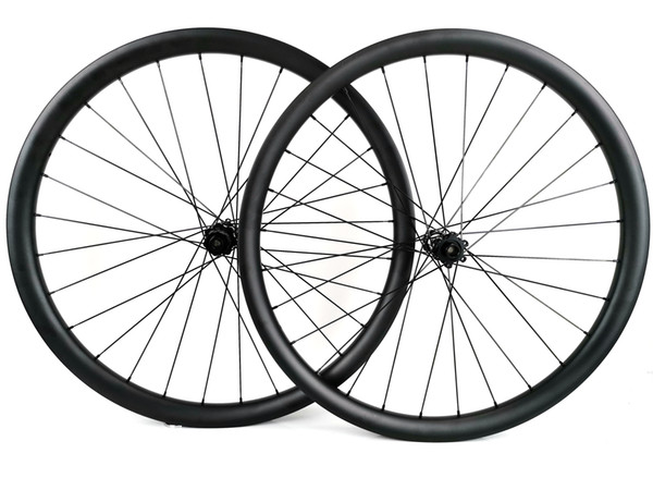 29er tubeless mountain bike carbon wheels 40mm width 30mm depth MTB DH carbon wheelset with DT hub