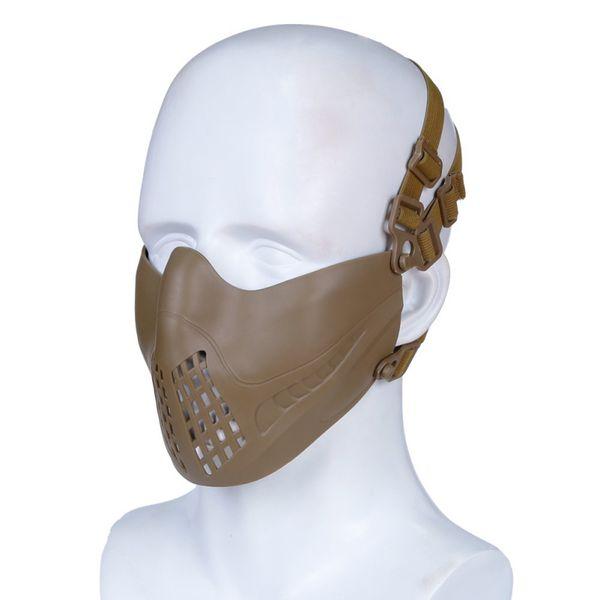 Yarım Yüz Maskesi Çift Modları Ayrılabilir Elastik Ayarlanabilir Kafa Bandı Ağız Kulak Koruma Açık Sürme Maske