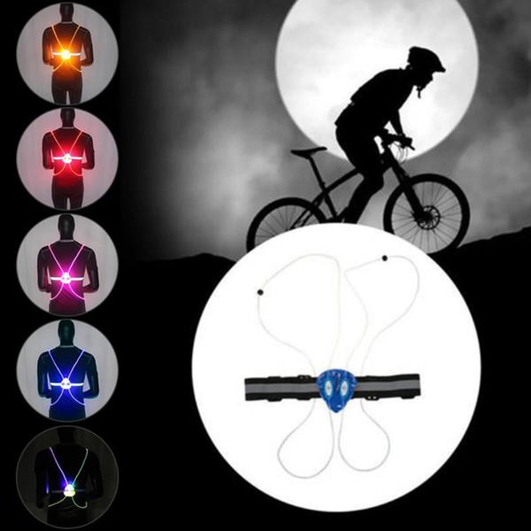 мигающий жилет высокой видимости 360 Светоотражающие светодиодной вспышкой велосипед Vest Регулируемая Running Оптовая Велоспорт Открытый безопасности