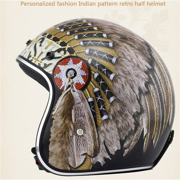 Retro and Vintage Half Open Face DOT Approved Motorcycle Helmet With Brim for Man and Woman S M L XL XXL