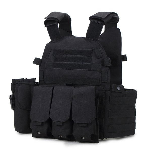 WarGame Item Js-6094 Plate Carrier Modular Vest for Outdoor Molle Protector Paintball Tactical Hunting Vest